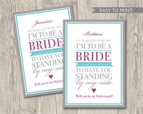 Digital File Will You Be My Bridesmaid Card 2455932 Weddbook Be My Bridesmaid Template