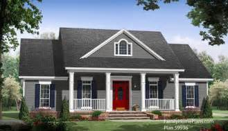 Ordinary House Plans With Porches Front And Back #9: Small-house-plan-59936.jpg