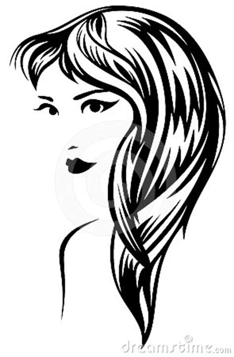 long hair stock photos royalty free images vectors long hair vector royalty free stock photos image 24497488