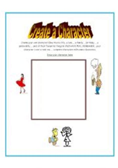 Creating A Character Worksheet by Worksheets Create Your Own Character