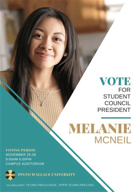 powerpoint templates for election posters student council election poster templates by canva