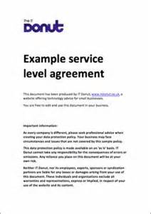 Hr Service Level Agreement Template by Service Level Agreement On