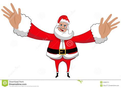 santa claus happy big hug love xmas isolated stock vector