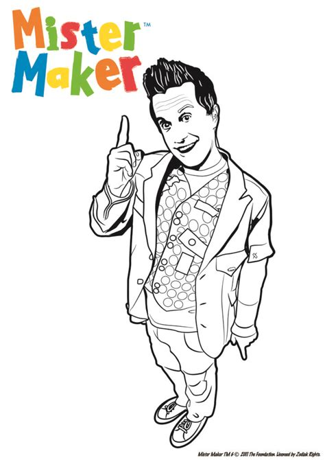 coloring pages mister maker colouring pages page 2