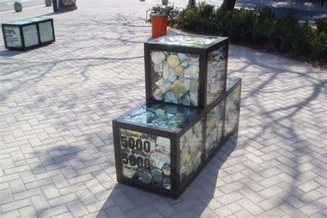 outstanding canadian design furniture victoria st tetris shaped trash filled street furniture encourages