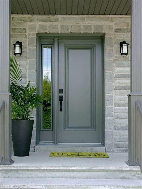 steel entrance door single front door   sidelight