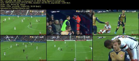 epl xi 2015 full match epl wba vs arsenal match 13 2015