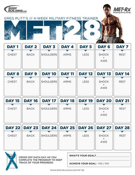 bodybuilding mass gain programs articles mft28 greg plitt s 4 week military fitness trainer by met