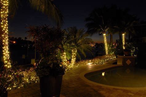 Fort Myers Post Holiday Lighting Blues Outdoor Lighting Lights Trees