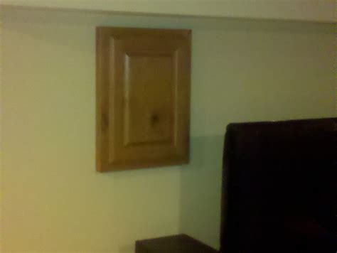 crafted cabinet door to cover access i e breaker