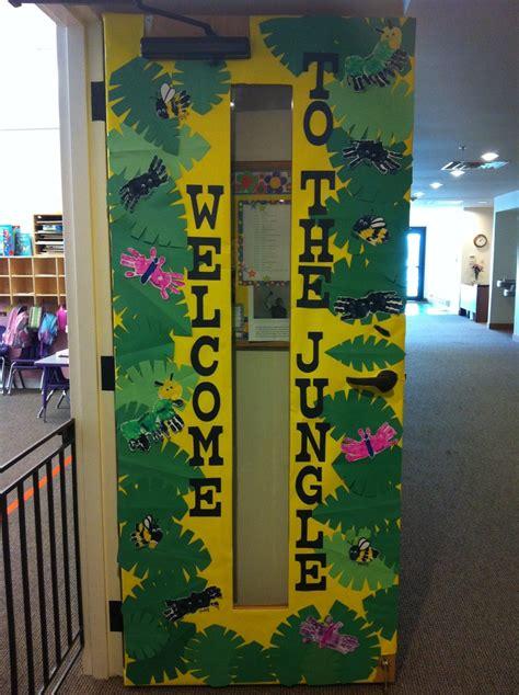 classroom door decorations bulletin board ideas jungle classroom vbs