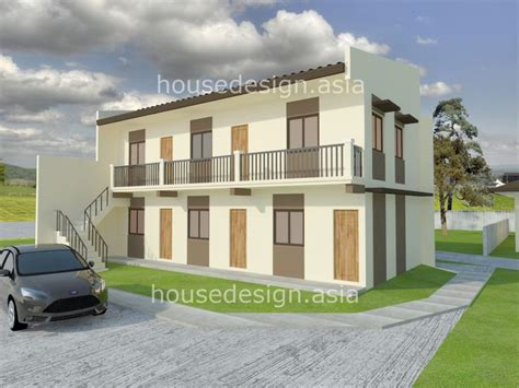2 storey apartment floor plans philippines two story apartment with 5 units house design