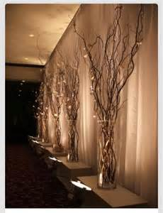 lighted tree branches home decor wedding dress