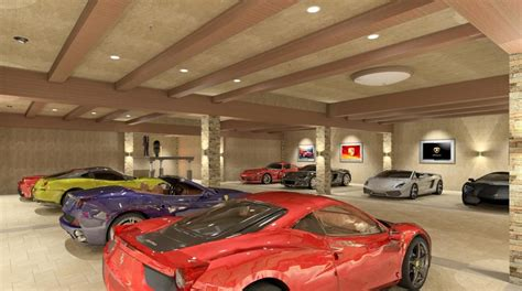 luxury garage private luxury garage rendering by bradley adams co