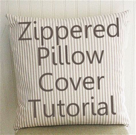 Zippered Pillow Protectors by Zipper Pillow Cover Tutorial