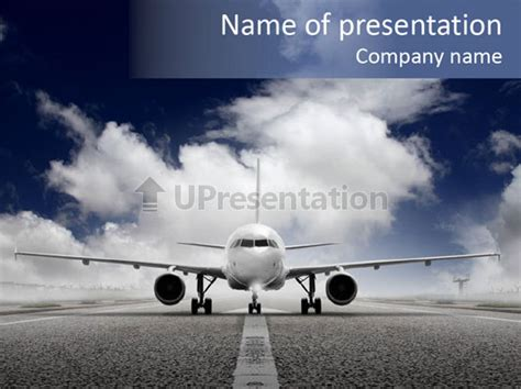 airport jet travel powerpoint template id 0000025798