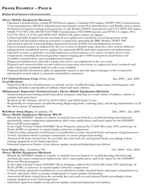 resume exle for government federal government resume exles resume ideas