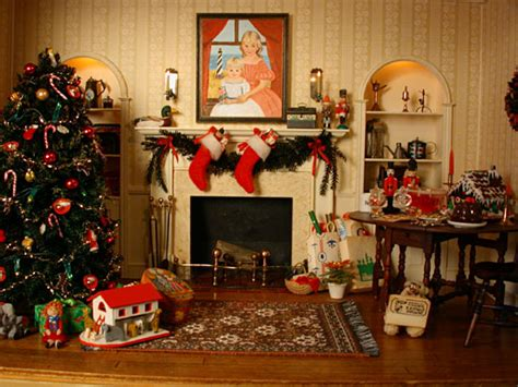 Christmas Room | studio b miniatures vignettes christmas room 1