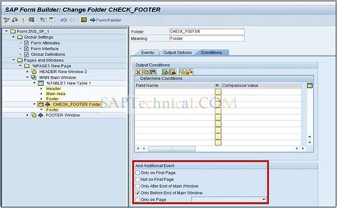 smartforms tutorial sap technical overlapping of main window with footer window in smart forms
