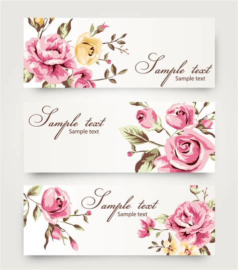 rose pattern name rose pattern banner free vector graphic download