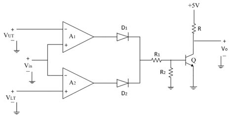 integrated circuit using op window comparator electronics tutorial