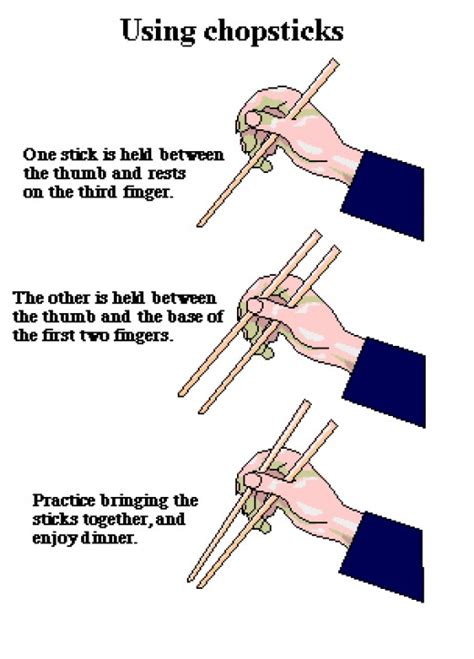 instructions on how to use chopsticks in countries of the orient