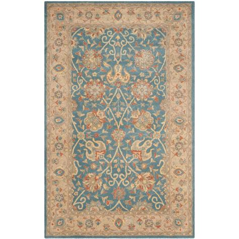 Safavieh Antiquity Safavieh Antiquity Blue 4 Ft X 6 Ft Area Rug At21e 4