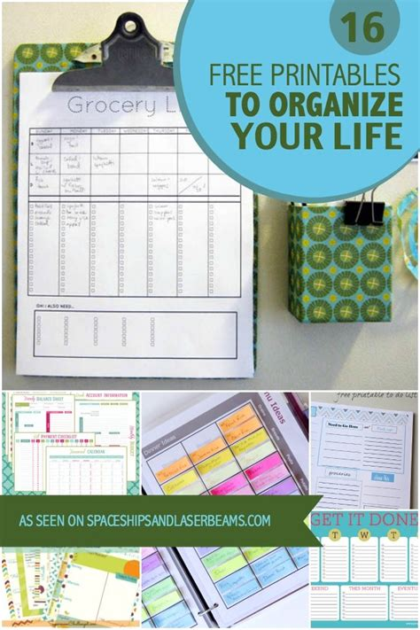 organizing life 16 free printables to organize your life chloe isabel