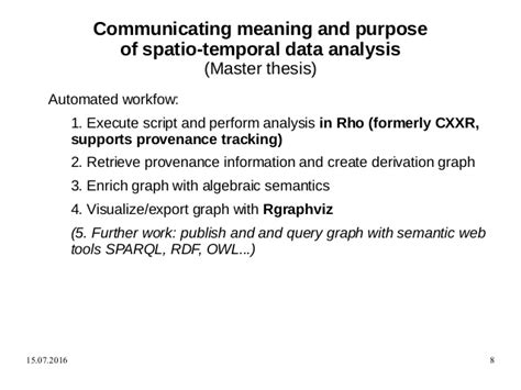 thesis analysis and interpretation of data communicating meaning and purpose of spatio temporal data