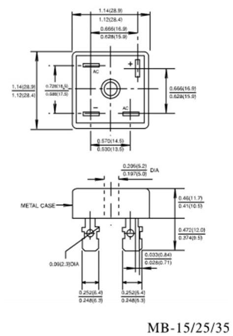 datasheet of diode bridge rectifier kbpc2502 datasheet kbpc2502 pdf pinouts circuit etc