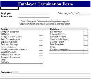 Termination Paperwork Template by Employee Termination Template