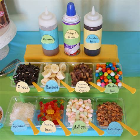 ice cream toppings bar ice cream party ideas