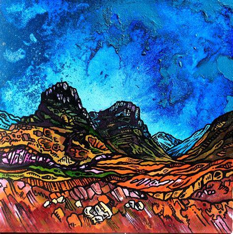 spray painting scotland painting prints of glencoe the three of