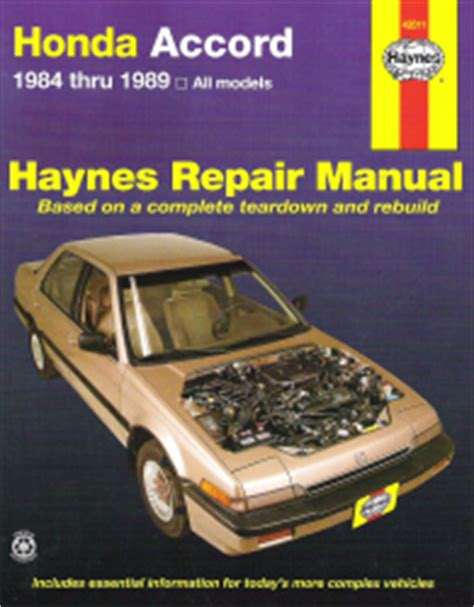 auto air conditioning repair 1989 honda accord free book repair manuals 1984 1989 honda accord haynes repair manual