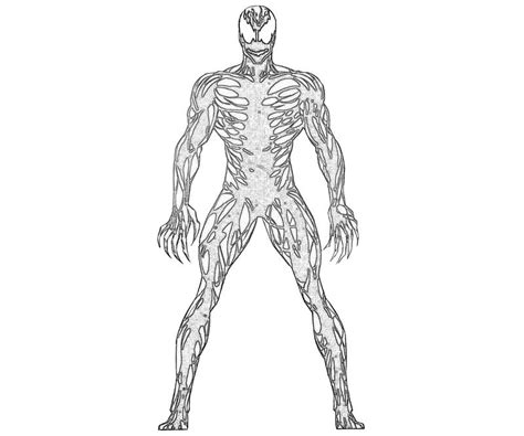 free coloring pages of carnage spiderman
