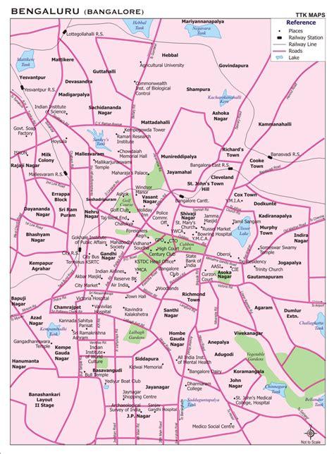 bangalore city map images travel india