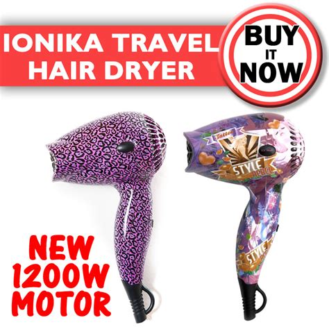 Ionika Mini Hair Dryer ionika deluxe travel hair dryer rebel purple leopard bebe ebay