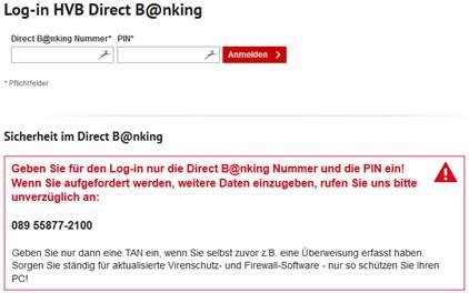 hvb bank login phishing hypovereinsbank fehlende best 228 tigung ihrer