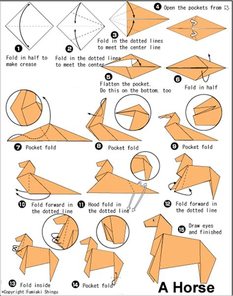 Origami Horses - easy origami for