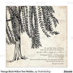 Weeping Willow Wedding Invitations