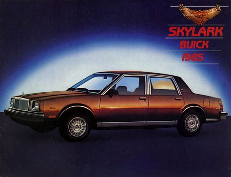 old car manuals online 1985 buick skylark seat position control 1985 buick skylark brochure