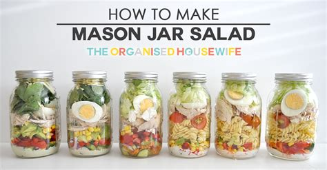 How To Make A Paper Jar - how to make jar salads the organised