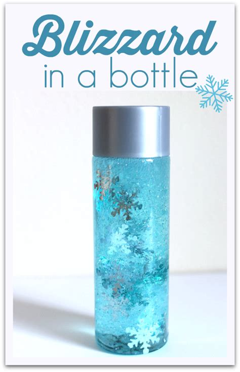 Ocean Decorations For Home by Blizzard In A Bottle Simple Winter Sensory Bottle No