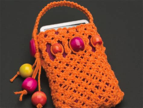 Macrame Pouch Pattern - home dzine craft ideas macram 233 ipod or cellphone holder