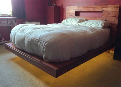 floating bed how to build a lighted floating bed 14 pics