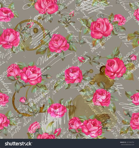 floral pattern words seamless floral pattern words flower vector stock vector
