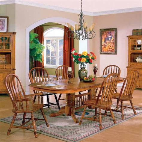windsor dining room set e c i furniture stafford solid american oak table