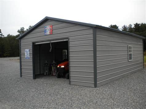 enclosed carport with garage door
