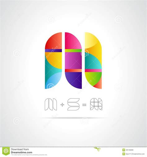 Letter Logo abstract vector logo design template combination letters m