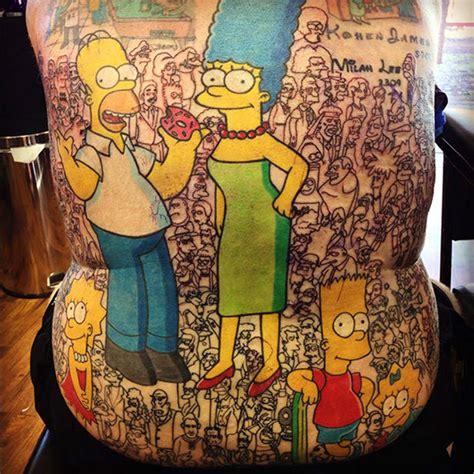 cartoon tattoo artist australia cartoon cast tattoos back tattoo